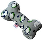 Sports and Stars 6 Inch Canvas Bone Dog Toy