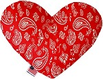 Red Western 8 inch Stuffing Free Heart Dog Toy