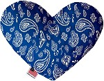 Blue Western 8 inch Stuffing Free Heart Dog Toy