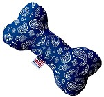 Blue Western 6 inch Stuffing Free Bone Dog Toy