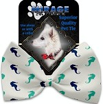 Seahorses Pet Bow Tie Collar Accessory with Velcro