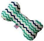 Aquatic Chevron 6 Inch Bone Dog Toy