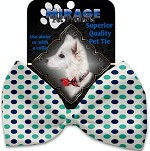 Aquatic Dots Pet Bow Tie Collar Accessory with Velcro
