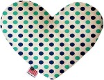 Aquatic Dots 8 inch Stuffing Free Heart Dog Toy