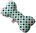 Aquatic Dots 8 inch Stuffing Free Bone Dog Toy