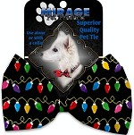 Digital Christmas Lights Pet Bow Tie Collar Accessory with Velcro