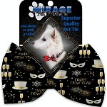 Fancy New Year Pet Bow Tie Collar Accessory with Velcro