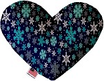 Snowflake Blues 8 Inch Heart Dog Toy