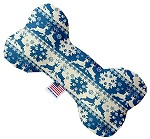 Blue Reindeer 6 Inch Bone Dog Toy