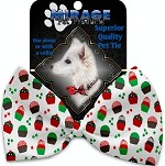 Christmas Cupcakes Pet Bow Tie Collar Accessory with Velcro