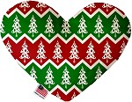 Chevron Christmas Trees 8 inch Stuffing Free Heart Dog Toy