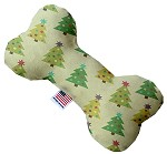 Cutesy Christmas Trees 6 Inch Bone Dog Toy
