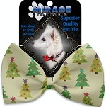 Cutesy Christmas Trees Pet Bow Tie