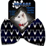 Team Prancer Pet Bow Tie Collar Accessory with Velcro