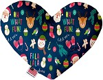 Christmas Party 8 inch Stuffing Free Heart Dog Toy