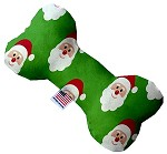 Smiling Santa 6 Inch Bone Dog Toy