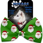 Smiling Santa Pet Bow Tie Collar Accessory with Velcro