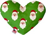 Smiling Santa 6 Inch Heart Dog Toy