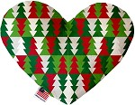 Classy Christmas Trees 6 inch Stuffing Free Heart Dog Toy