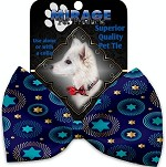 Blue Star of David Pet Bow Tie