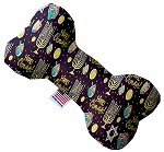Happy Chanukah 6 inch Stuffing Free Bone Dog Toy