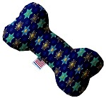 Star of Davids and Snowflakes 10 inch Stuffing Free Bone Dog Toy