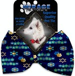 Chanukah Bliss Pet Bow Tie