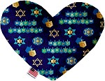 Chanukah Bliss 6 inch Stuffing Free Heart Dog Toy