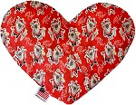 Krampus 8 inch Stuffing Free Heart Dog Toy