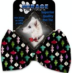 Classic Christmas Ornaments Pet Bow Tie