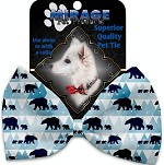 Winter Bear Tracks Pet Bow Tie Collar Accessory with Velcro