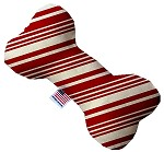 Classic Candy Cane Stripes 10 inch Stuffing Free Bone Dog Toy