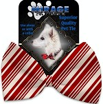 Classic Candy Cane Stripes Pet Bow Tie Collar Accessory with Velcro