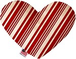 Classic Candy Cane Stripes 6 Inch Heart Dog Toy