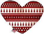 Red Classic Christmas 8 inch Stuffing Free Heart Dog Toy