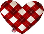 Candy Cane Argyle 6 Inch Heart Dog Toy