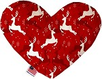 Dancing Reindeer 8 inch Stuffing Free Heart Dog Toy