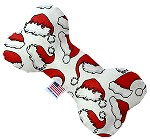 Santa Hats 6 Inch Bone Dog Toy