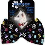 Smiley Snowflakes Pet Bow Tie Collar Accessory with Velcro