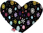 Smiley Snowflakes 6 inch Stuffing Free Heart Dog Toy