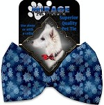 Winter Wonderland Pet Bow Tie Collar Accessory with Velcro