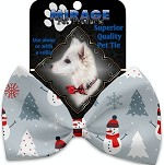 Look at Frosty Go Pet Bow Tie Collar Accessory with Velcro