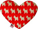 Christmas Westies 6 Inch Heart Dog Toy