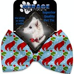 Christmas T-rex Pet Bow Tie Collar Accessory with Velcro