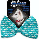 Hope and Peace Pet Bow Tie Collar Accessory with Velcro