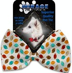 Football Frenzy Pet Bow Tie Collar Accessory with Velcro