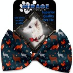 Fall Friends Pet Bow Tie Collar Accessory with Velcro