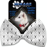 Deer Dreaming Pet Bow Tie Collar Accessory with Velcro