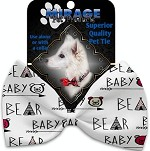 Baby Bear Pet Bow Tie Collar Accessory with Velcro