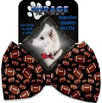 Footballs Pet Bow Tie